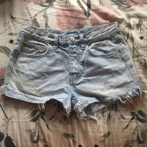 BDG light blue button fly tomgirl shorts